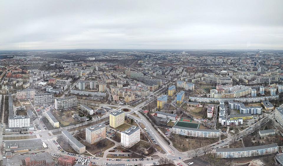 panorama wrocławia - budownictwo