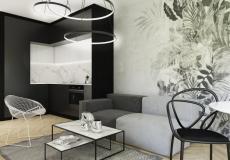 wnętrze mieszkania - wizualizacja